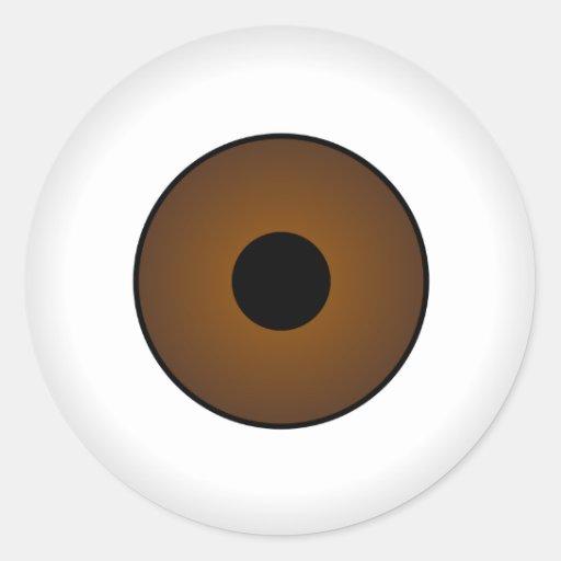 Crazy Eyeballs Halloween Sticker Brown