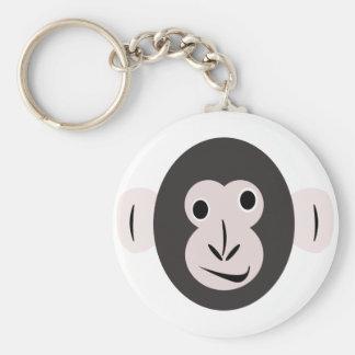 Crazy Eyed Chimp Products Basic Round Button Keychain