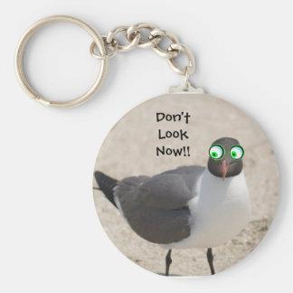 Crazy Eyed Sea Gull Keychain