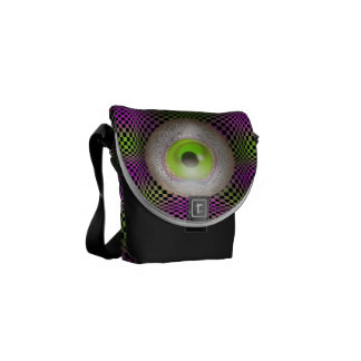 Crazy Eyes Planet M13 Graphic Print Courier Bag
