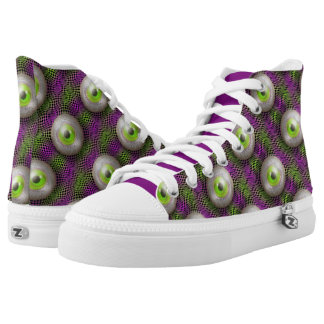 Crazy Eyes Planet M13 High-Top Sneakers