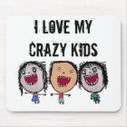 Crazy Face Cartoon Kids Mouse Pad