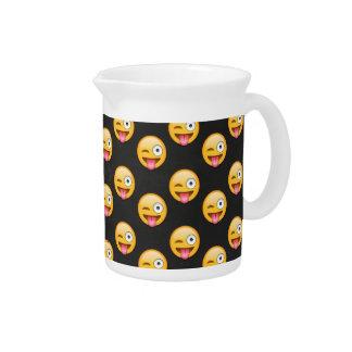 Crazy Face Emoji Pitcher