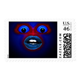 Crazy face postage stamps
