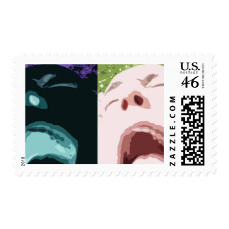 Crazy Face Stamps