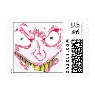 Crazy Face Postage Stamp