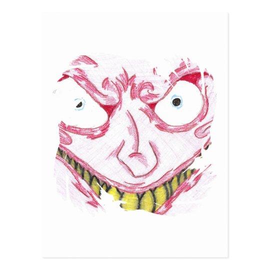 Crazy Face Postcard