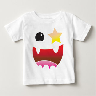 crazy face with star eye baby T-Shirt