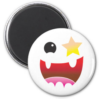 crazy face with star eye fridge magnets