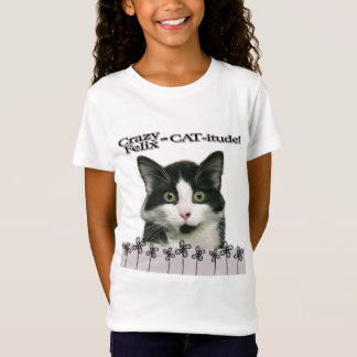 Crazy Felix CAT-itude Girl's T-Shirt
