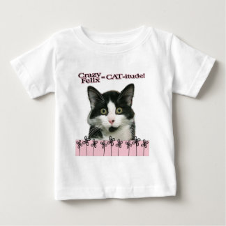 Crazy Felix CAT-itude in Pink Baby T-Shirt
