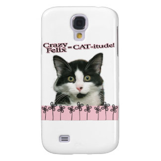 Crazy Felix CAT-itude in Pink Galaxy S4 Covers