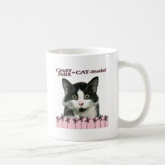 Crazy Felix CAT-itude in Pink Mug