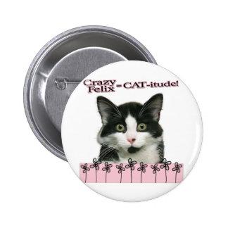 Crazy Felix CAT-itude in Pink Pins