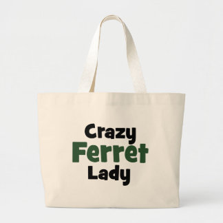 Crazy Ferret Lady Tote Bags