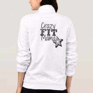 Crazy Fit Mama Personalized Fleece Jogger Jacket