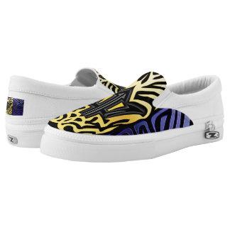 Crazy Flag #18 Slip-On Sneakers