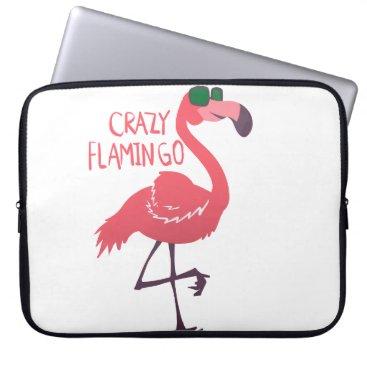 Beach Themed Crazy flamingo laptop sleeve