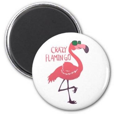 Beach Themed Crazy flamingo magnet