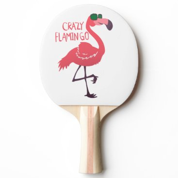Beach Themed Crazy flamingo Ping-Pong paddle
