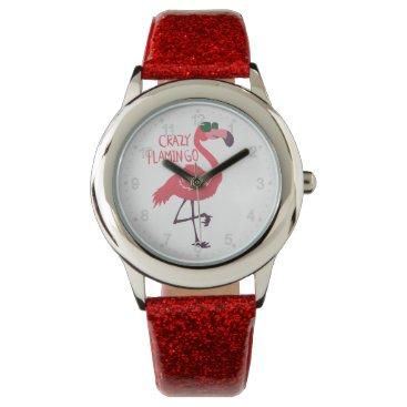 Beach Themed Crazy flamingo wristwatch