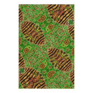Crazy Florescent Abstract Cork Fabric