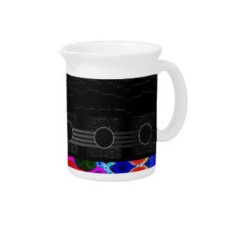 Crazy Florescent Polka-dot Beverage Pitcher