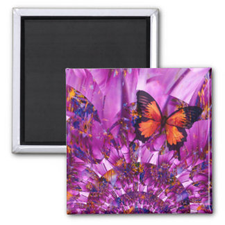 Crazy Flower Butterfly Refrigerator Magnet