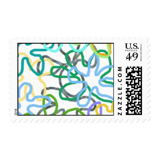 """""""CRAZY FLOWERS"""" Collection Postage Stamps"""