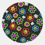 Crazy Flowers Sticker