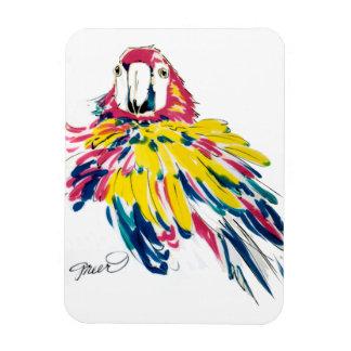 Crazy Fluffy Parrot Rectangular Photo Magnet