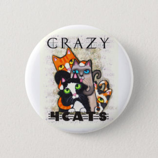 Crazy For Cats Button