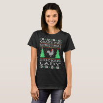 Crazy For Christmas Chicken Lady Ugly Sweater Gift