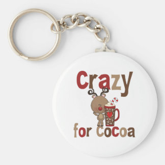 Crazy For Cocoa Basic Round Button Keychain