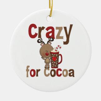 Crazy For Cocoa Ceramic Ornament