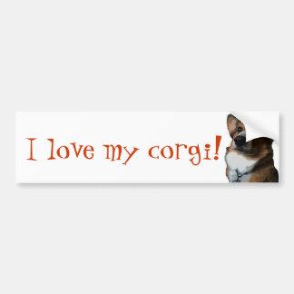 Crazy for Corgis Bumper Sticker