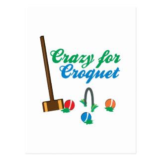 Crazy For Croquet Postcard