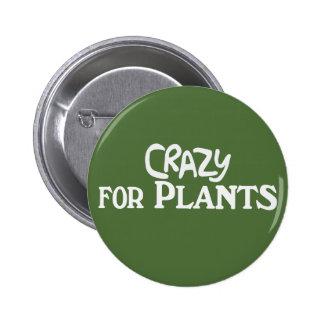 Crazy for Plants - Dark Green Round Button