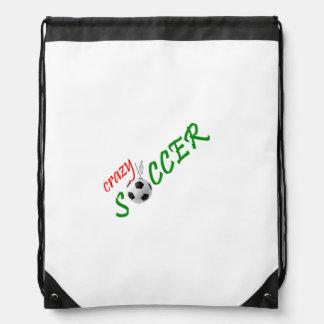 Crazy for Soccer Drawstring Backpack