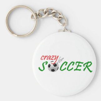 Crazy for Soccer Keychain