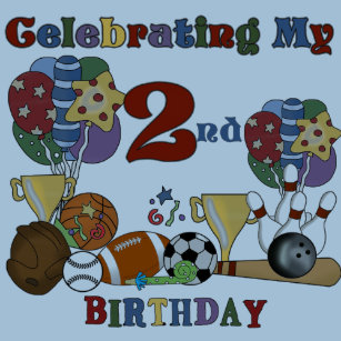 Crazy For Sports 2nd Birthday T Shirts And Gifts