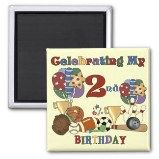 Crazy For Sports 2nd Birthday T-shirts and Gifts Magnet
