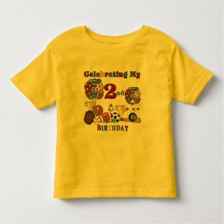 Crazy For Sports 2nd Birthday T-shirts and Gifts