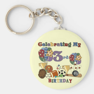 Crazy For Sports 3rd Birthday Tshirts and Gifts Keychain