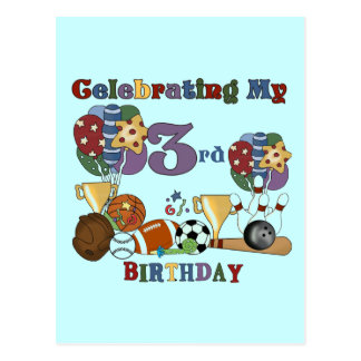Crazy For Sports 3rd Birthday Tshirts and Gifts Postcard