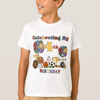 Crazy For Sports 4th Birthday T-shirts and Gifts