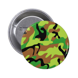 Crazy Forrest Green Camo Pinback Button