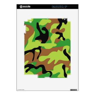 Crazy Forrest Green Camo Skin For iPad 2