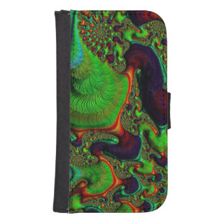 Crazy Fractal Samsung Galaxy4 Wallet Case Phone Wallet