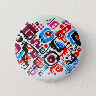 Crazy Fractals Pinback Button